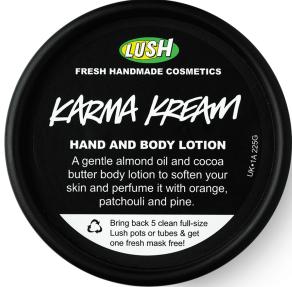 LUSH Karma Kream Hand and Body Lotion