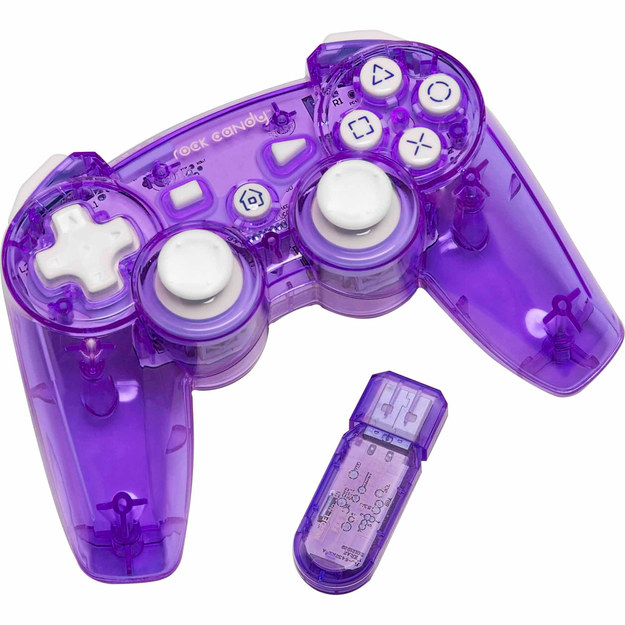 Pdp PDP Rock Candy PS3 Wired Controller Cosmoberry - ELECTRO SOURCE INC.