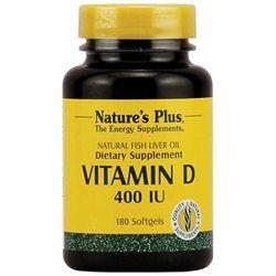 Nature's Plus Vitamin D - 400 IU - 180 Softgels
