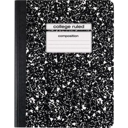 """Staples Composition Notebook, College Ruled, Black, 9-3/4"""" x 7-1/2"""", Each (40451M-CC)"""