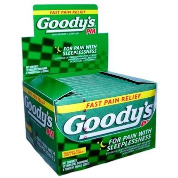 Goody's PM Acetaminophen Powders, 6-Count (Pack of 12)