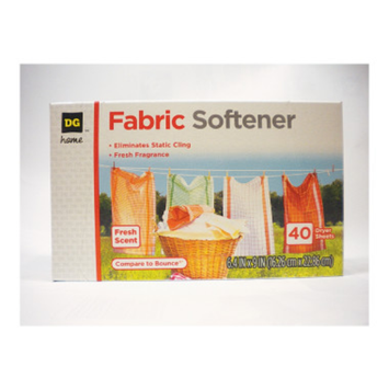DG Home Fabric Softener Sheets - Fresh Scent, 34 ct