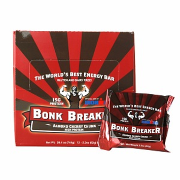 Bonk Breaker Gluten & Dairy Free High Protein Energy Bar, Almond Cherry Chunk, 12 ea