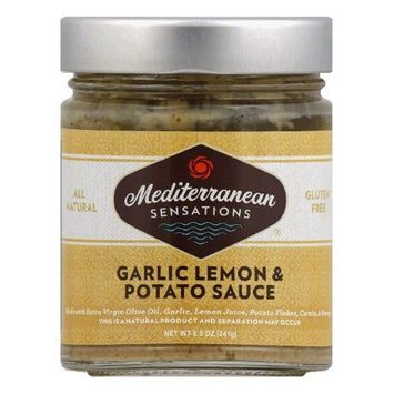 Mediterranean Sensations Sauce Lemon Garlic Potato 8.5 Oz Pack Of 6