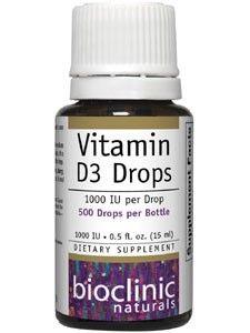 Bioclinic Naturals Vitamin D3 Drops .5oz (15ml) liquid