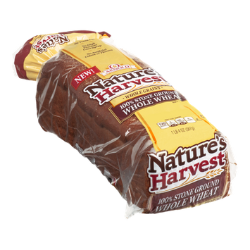 Arnold Nature's Harvest Bread 100% Stone Ground Whole Wheat Whole Grains