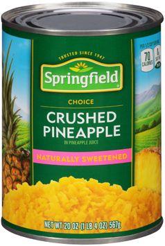 Springfield® Crushed Pineapple in Pineapple Juice