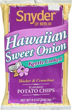 snyder of berlin® kettle cooked hawaiian sweet onion potato chips