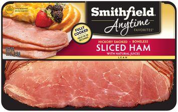 Smithfield® Anytime Favorites™ Hickory Smoked Boneless Sliced Lean Ham