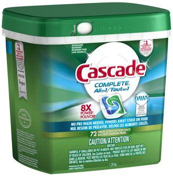Cascade ActionPacs All-in-1 Lemon Burst Scent Dishwasher Detergent