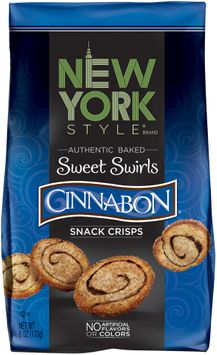 new york style® sweet swirls cinnabon® baked snack crisps