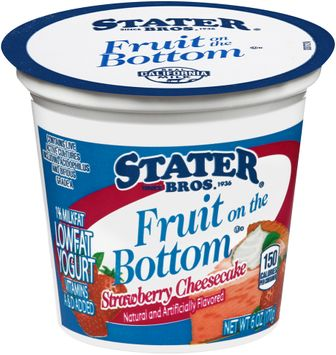 Stater bros® Fruit on the Bottom Low Fat Strawberry Cheesecake Yogurt