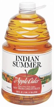Indian Summer Not from Concentrate 100% Pasteurized Apple Cider Fresh UPC 41760 00500