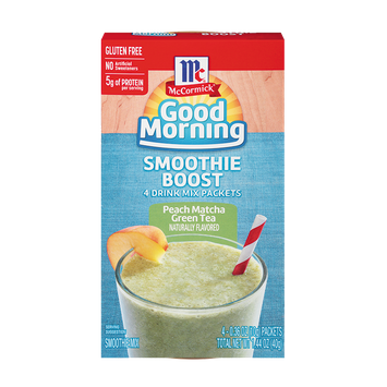McCormick® Good Morning Peach Matcha Green Tea Smoothie Boost
