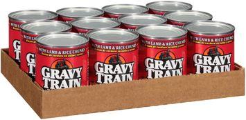 Gravy Train Chunks In Gravy With Lamb & Rice Chunks Wet Dog Food, 13.2-Ounce Can