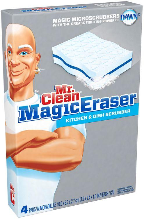 Mr Clean Magic Eraser Kitchen & Dish Scrubber 4 Count