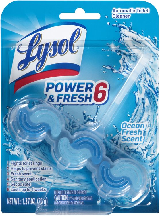 Lysol® Power & Fresh 6 Ocean Fresh Scent Automatic Toilet Cleaner