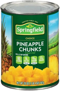 Springfield® Pineapple Chunks in Heavy Syrup