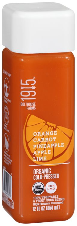 Bolthouse Farms 1915 Orange Carrot Pineapple Apple Lime Organic