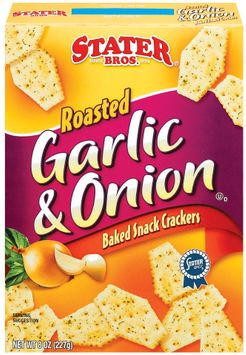 Stater bros Roasted Garlic & Onion Baked Snack Crackers