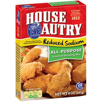 House-Autry® Reduced Sodium All-Purpose Seasoned Breading Mix