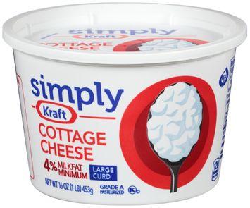 Simply Kraft Large Curd 4% Milkfat Minimum Cottage Cheese