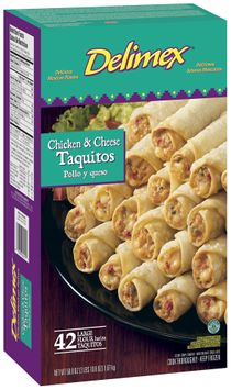 Delimex Chicken & Cheese Large 42 Ct Taquitos Flour
