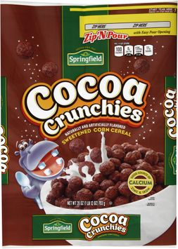 springfield® cocoa crunchies sweetened corn cereal