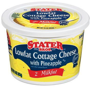 Stater bros Lowfat W/Pineapple Cottage Cheese