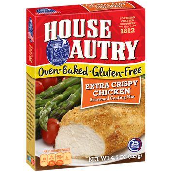 House-Autry® Oven-Baked Gluten-Free Extra Crispy Chicken Seasoned Coating Mix
