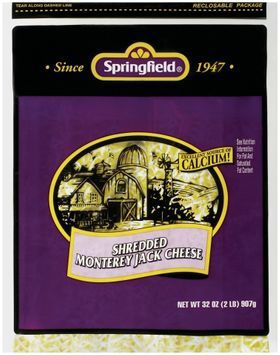 Springfield Monterey Jack Shredded Cheese