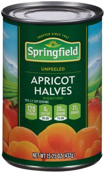 Springfield® Unpeeled Apricot Halves in Heavy Syrup