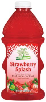 Nature's Nectar Strawberry Splash Flavored Blend of 4 Juices Fruit Juice Cocktail