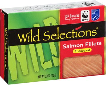 Wild Selections® Salmon Fillets in Olive Oil