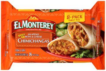 El Monterey® Spicy Jalapeno Bean & Cheese Chimichangas 8 ct Bag