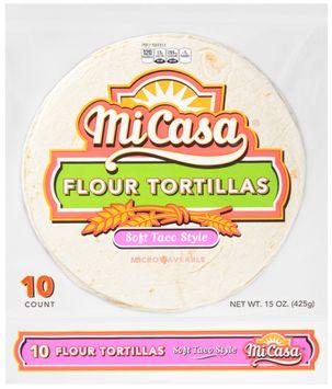 Mi Casa® Soft Taco Style Flour Tortillas 10 ct Bag