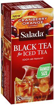 Salada® Cranberry Orange All Natural Black Tea for Iced Tea 18 ct. Box