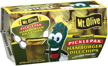 mt Olive Hamburger Dill Chips Portable Pickles
