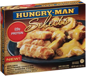 Hungry-Man® Selects Golden Battered Chicken with Cheese Fries