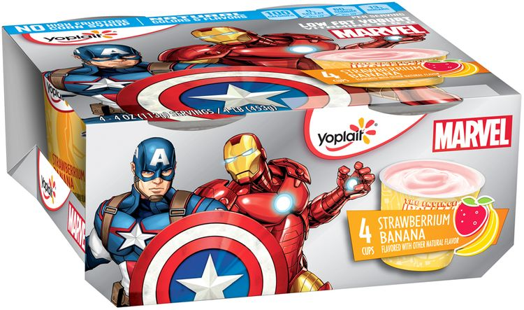 Yoplait® Marvel Strawberrium Banana Low Fat Yogurt