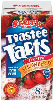 Stater bros Frosted Strawberry 8 Ct Toastee Tarts