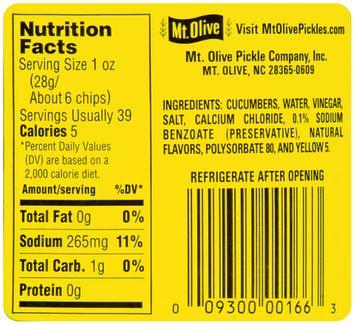 mt Olive Kosher Hamburger Dill Chips Fresh Pack