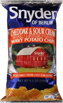 snyder of berlin® cheddar & sour cream wavy potato chips