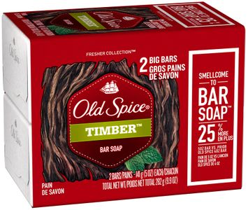 fresh collection old spice fresher collection timber scent men's bar soap 2 bar