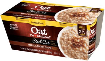 Better Oats® Oat Revolution!® Steel Cut Maple & Brown Sugar Instant Natural with Flax
