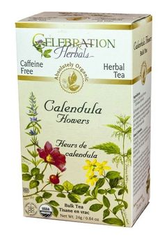 Celebration Herbals Organic Calendula Flower Bulk Tea Caffeine Free 0.84 oz