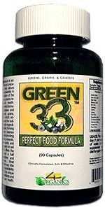 4 Organics GREEN 33 Bottle 90 Capsules