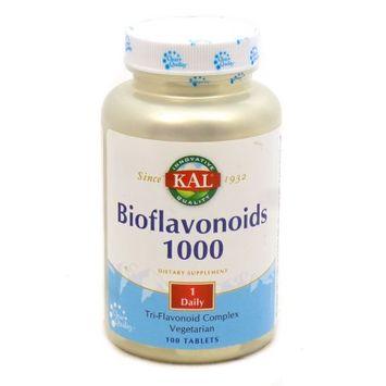 Kal - Bioflavonoids 1000 Tri-Flavonoid Complex 1000 mg. - 100 Tablets