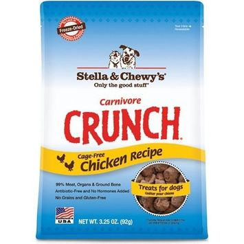Stella & Chewy's Freeze Dried Dog Treats, Carnivore Crunch Chicken Recipe, 3.25 ounce pouch