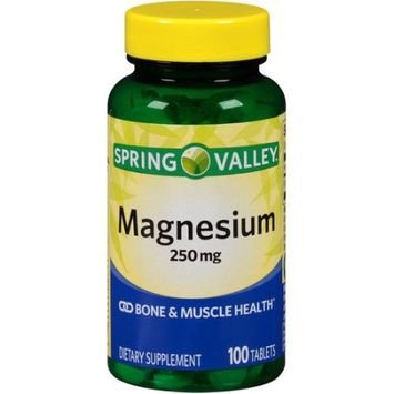 Wal-mart Stores, Inc. Spring Valley Magnesium Dietary Supplement Tablets, 250mg, 100 count